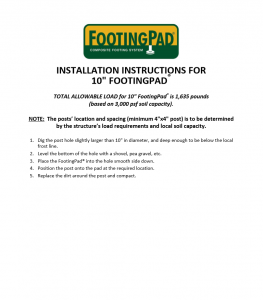 FootingPad Composite Footing System - Cardinal Building Products