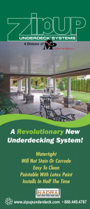 Underdeck Brochure Zip Up Ceiling